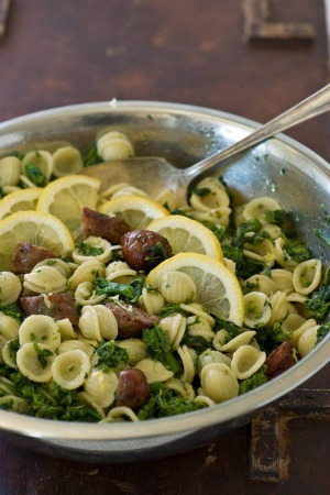 PASTA WITH BROCCOLI RABE AND SWEET ITALIAN SAUSAGE
