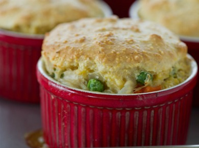 Chicken Pot Pie with Cornmeal Crust