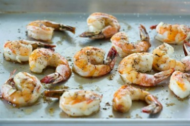 Roasted Shrimp with White Beans