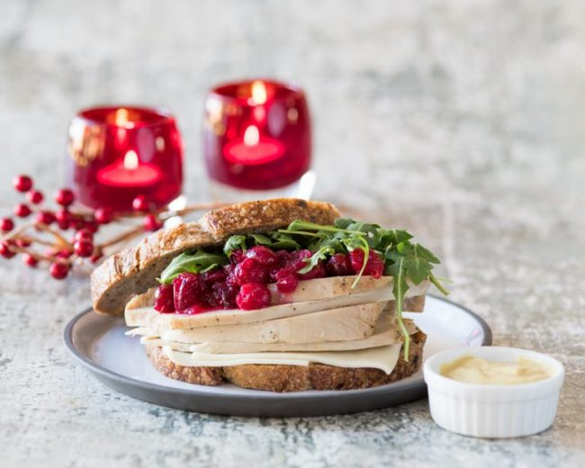 LEFT OVER TURKEY AND CRANBERRIES? TRY THIS TURKEY SANDWICH!