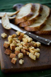 Sour Dough bread cubes for stuffing