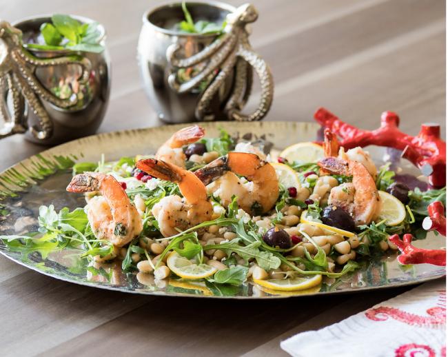Roasted Shrimp with White Beans