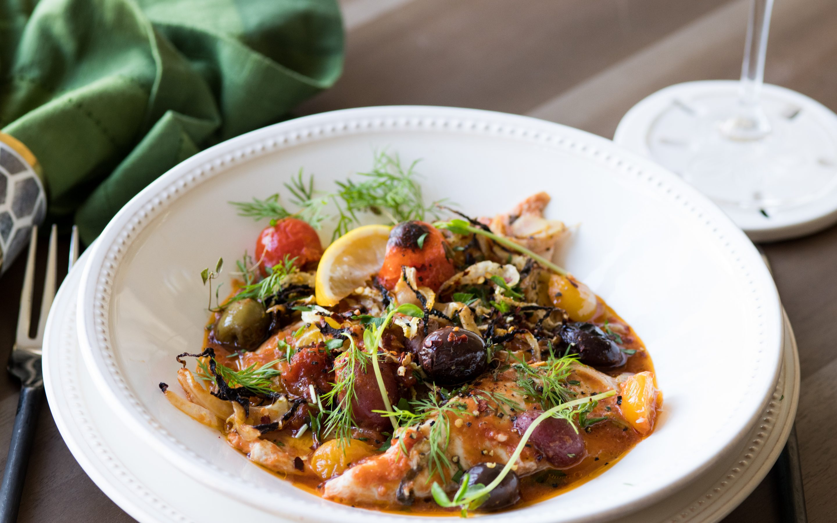 STRAIGHT FROM ITALY TO YOU! BAKED FILLET OF SOLE IN TOMATO SAUCE & FRESH HERBS!