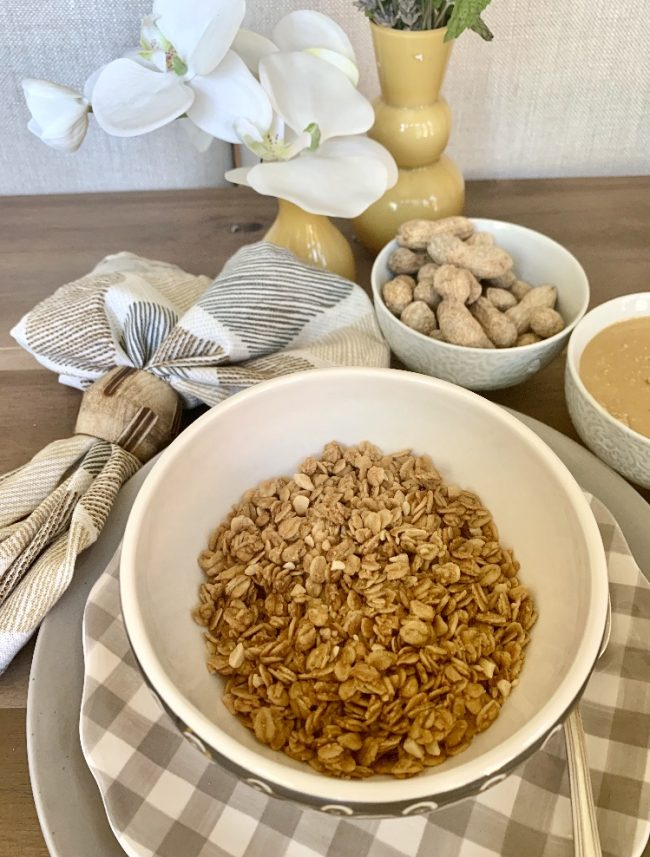IT'S OFFICIAL! OUR NEXT FLOURISH GRANOLA FOR THE FALL IS PEANUT BUTTER! LOOK FOR OUR 15FLOURISH PROMO CODE FOR 15% OFF OF OUR GRANOLA